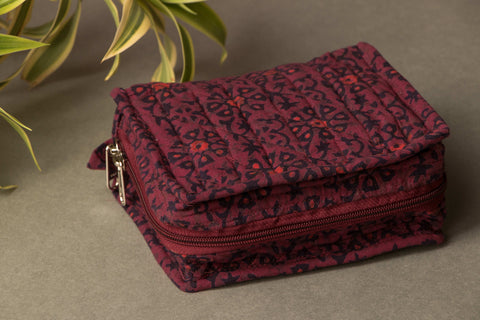 Tilonia 4 Pocket Cotton Jewellery Pouch