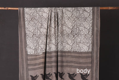 Bindaas Natural Dyed Block Print Cotton Saree