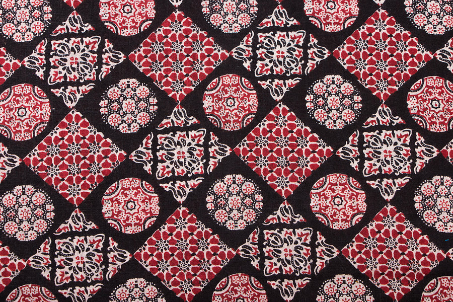 Screen Printed Cotton Fabric