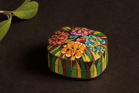 Handpainted Wooden Multipurpose Box