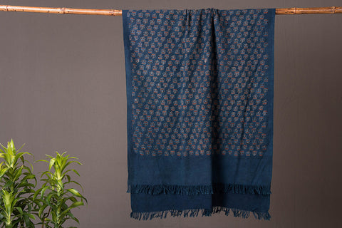 Ajrakh Block Printed Handloom Towel from Kutch