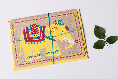 Buy handmade multipurpose cards online in india l itokri block printed greeting card m4hsunfo