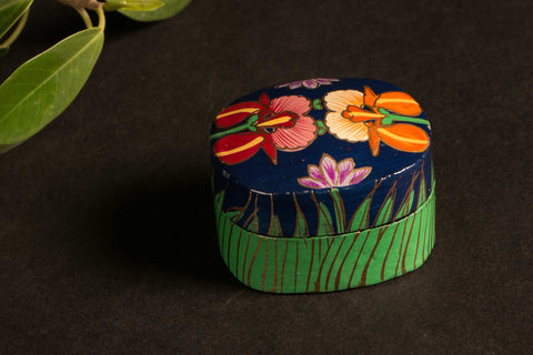 Handpainted Wooden Multipurpose Small Box