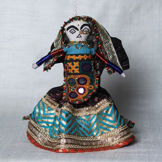 Traditional Kutchi Embroidery Handmade Doll (Dhingli)