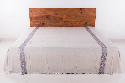 Himroo Handloom Jacquard Mercerized Cotton Double Bedcover