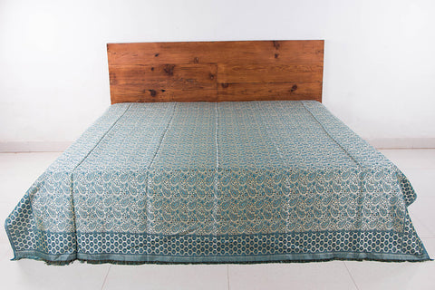 Himroo Handloom Jacquard Cotton Double Bedcover