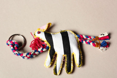 Kantha Stitch Funky Key Chain Peacock