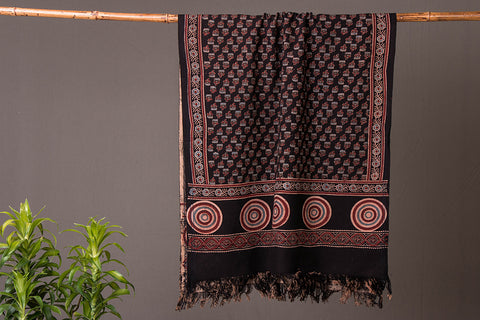Special Ajrakh Block Printed Handloom Towel from Kutch