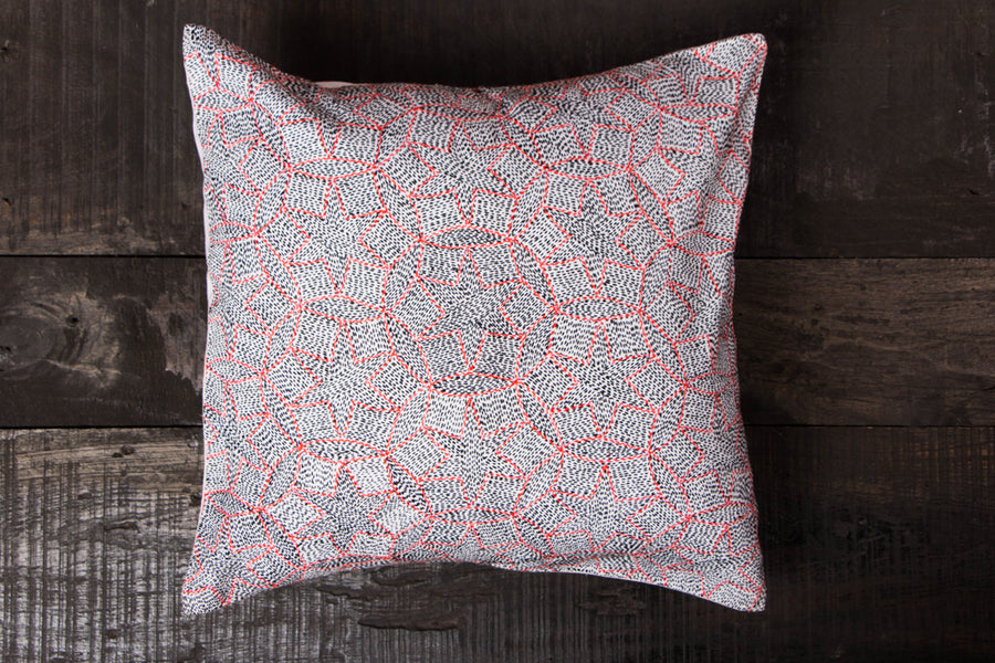 Sujani Embroidery Cotton Cushion Cover by Aunam