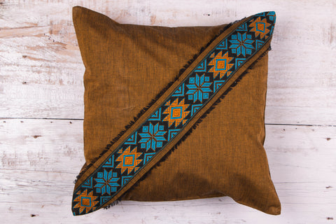 Assam Border Cotton Cushion Cover by Kritenya Manjuri