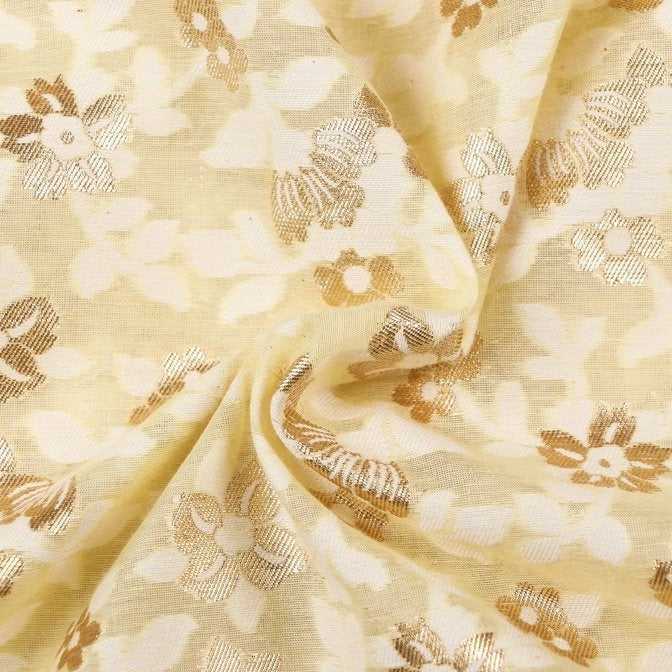 Special Banarasi Silk Cotton Zari Booti Fabric