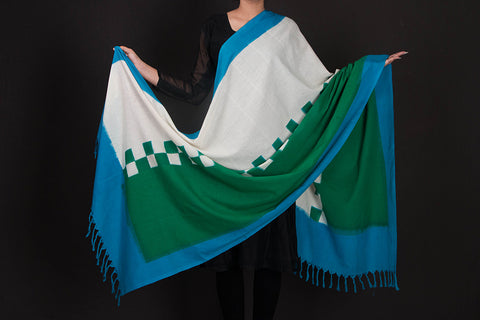Pochampally Double Ikat Cotton Handloom Dupatta