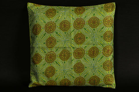 Miharu Kantha Work Silk Cushion Cover (16