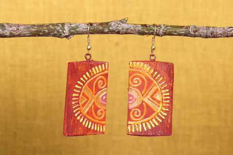 Miniature Handpainted Bamboo Earrings