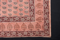 Original Pedana Kalamkari Block Printed Natural Dyed Cotton Table Cover (60 in x 60 in)