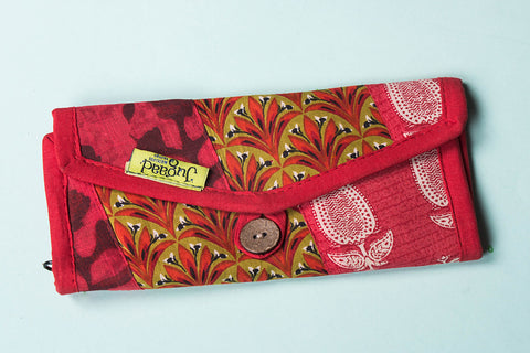 Jugaad Patchwork Cotton Multipurpose Two Fold Clutch Wallet