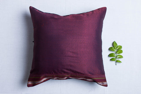 Handloom Khun fabric Cushion Cover (16 x 16 inches)