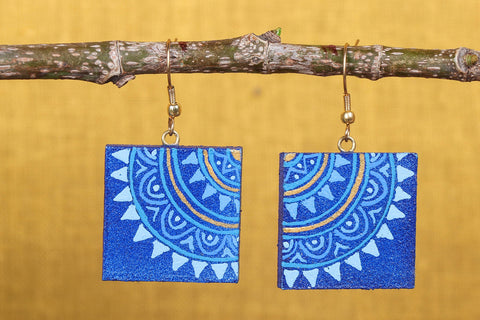 Miniature Handpainted Wooden Earrings