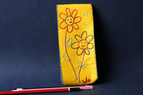 Threadwork Story Board Pencil Box - Flowers
