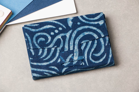 Block Printed Fabric Handmade Visiting Card Holder by Sukriti
