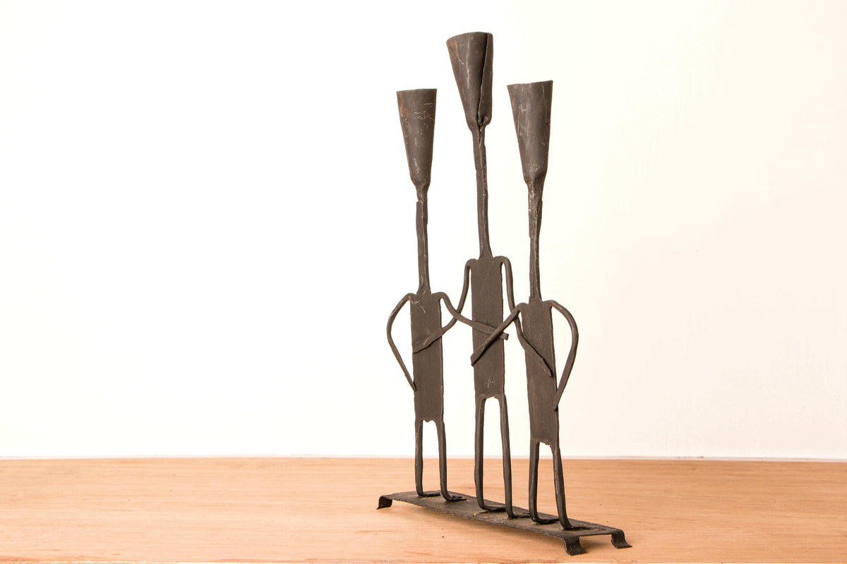 Bastar Tribal Wrought Iron 3 Batti Christmas