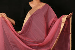 Chanderi Slik Mumkin Dupatta With Zari Border