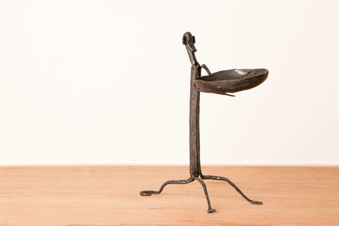 Bastar Tribal Wrought Iron monkey Candle Stand