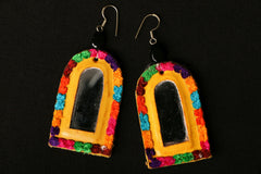 Mirror Work Kutchhi Earring by Nidhi