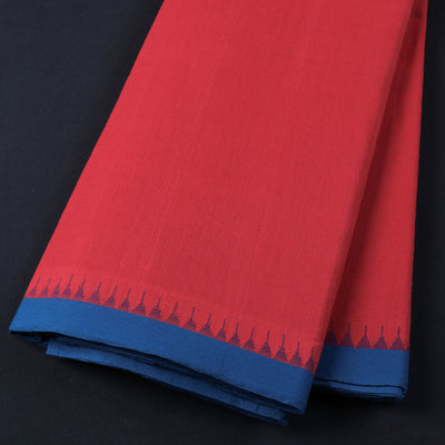 Pure Handloom Godavari Kuppadam Border Cotton Fabric