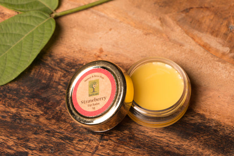 Strawberry - Bee Wax Lip Balm by Last Forest (5 gm)