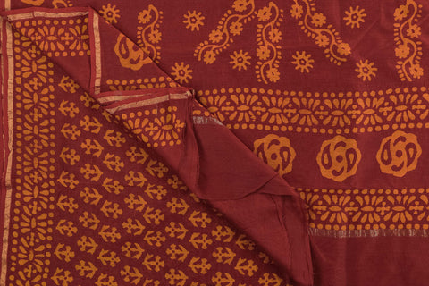 Batik Print Chanderi Silk Saree by Rauph Khan
