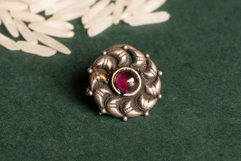 Antique Padma Sterling Silver Nosepin