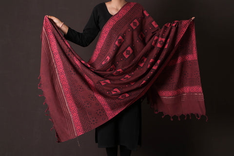 Bagru Dabu Printed South Cotton Dupatta