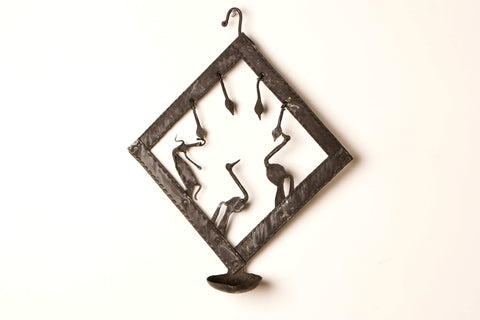 Bastar Tribal Wrought Iron Diya Stand