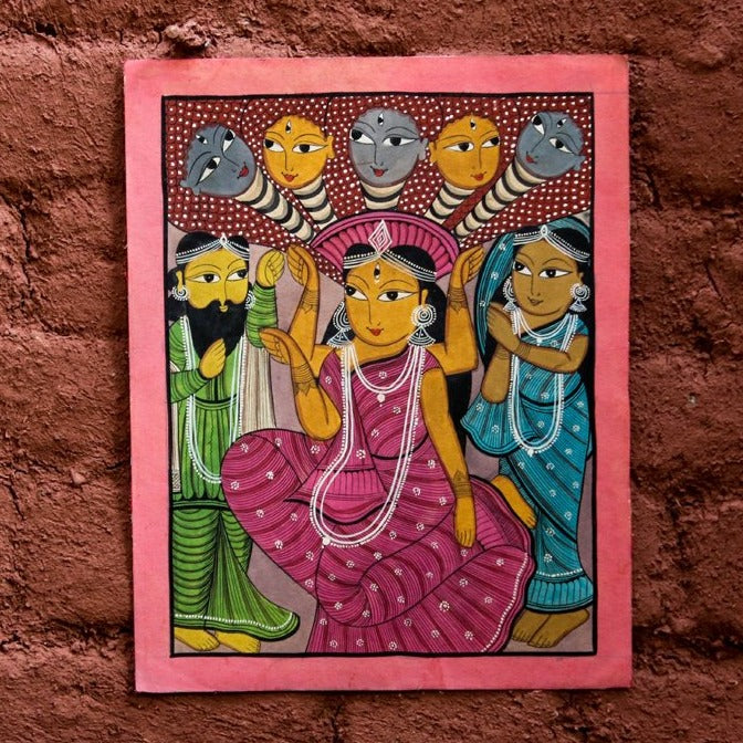 Traditional Patachitra Painting by Laltu Chitrakar (14 x 11 in)