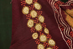 Bobbili Natural Dyed Handloom Cotton Saree by Abhihaara