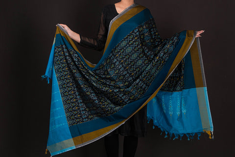 Pochampally Ikat Sicco Cotton Handloom Dupatta