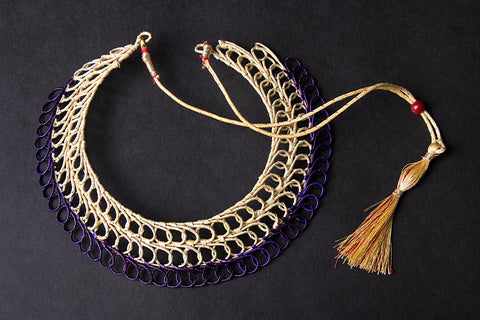 Hand Braided Natural Sikki Grass Necklace
