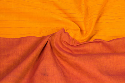 Mangalgiri Godavari Leaf &Stripe Cotton Saree with Blouse by DAMA