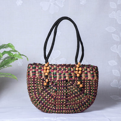 Handmade Organic Water Hyacinth Hand Bag from Assam