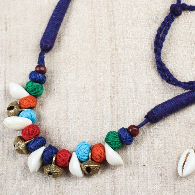 Bishnupur Handcrafted Cowry Sea Shell Necklace Set