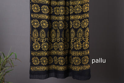 Hand Batik Printed Cotton Saree
