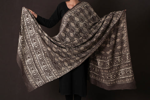 Bagru Dabu Block Print South Cotton Mul Dupatta