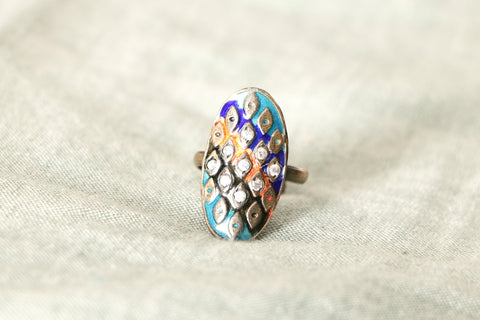 Handcrafted Paka Meena Ring (Adjustable)