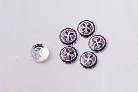 Handcrafted Paka Meenakari Buttons (set of 6 - small)
