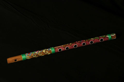 Flute with Abstract Pastel Painting