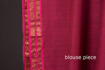 Mangalgiri Godavari Dhara Cotton zari Saree with Blouse by DAMA