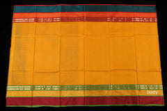 Handwoven Maheshwari Silk Saree with Zari Border