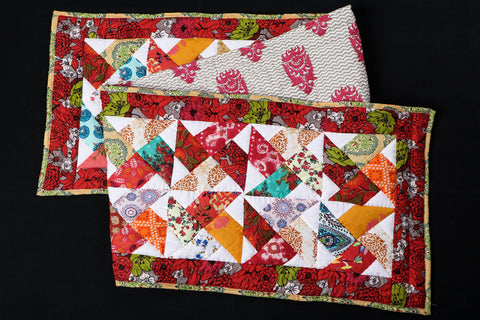 Special Applique Quilted Table Runner (74in x 16in)