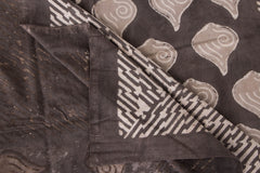 Cotton Natural Dyed Block Art Prints Single Bedcover by Bindaas Unlimited